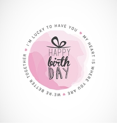 Birthday typography greeting card design vector