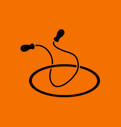 Jump rope and hoop icon vector