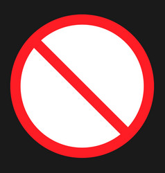 no etntry sign flat icon vector image