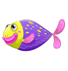 A shy fish vector