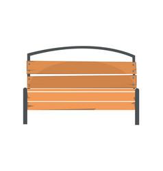 Wooden outdoor bench urban infrastructure element vector