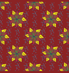 Flowers on colored background floral pattern in vector