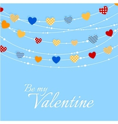 Valentine background with joyful heart bunting vector