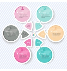 Elements for infographics abstract arrows vector image