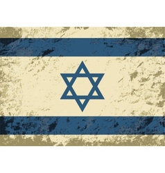 Israeli flag grunge background vector
