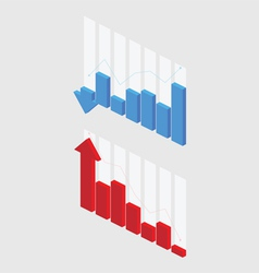 3D Graph vector image vector image