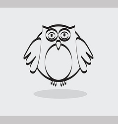 Owl icon in black line vector