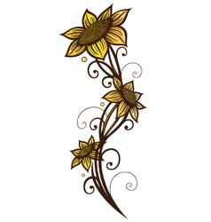 Sunflowers summer vector image