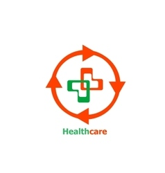 Medical cross abstract logo design vector