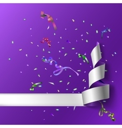 Streamers with confetti vector