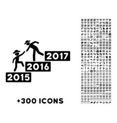 Annual human figure help icon vector