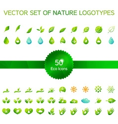 Ecology icons nature logo vector