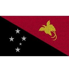 Flags papua new guinea on denim texture vector