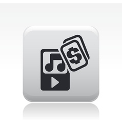 music price icon vector image