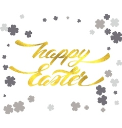 Happy easter lettering egg vector