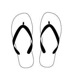 white flip flops vector image
