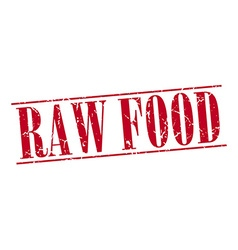 Raw food red grunge vintage stamp isolated on vector