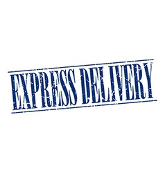 Express delivery blue grunge vintage stamp vector