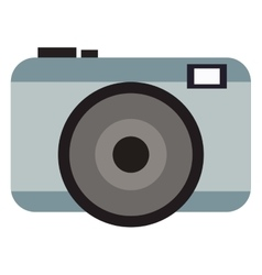 Grey photographic camera vector