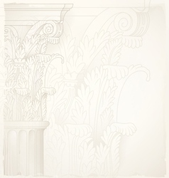 architectural backgroundcorinthian capital vector image