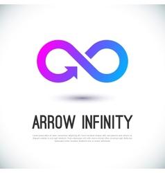Arrow infinity business logo vector image vector image