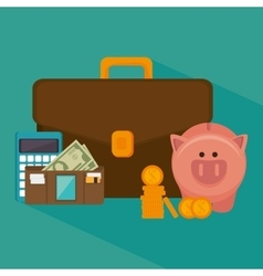 Bank money and investment vector