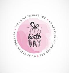 Birthday typography greeting card design vector