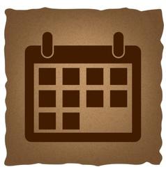 Calendar sign vintage effect vector