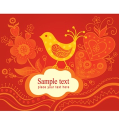 Decorative background with bird vector image vector image