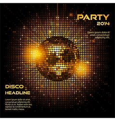 disco ball party background ai vector image