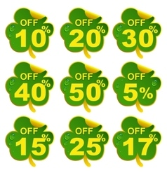 Discount sale leaf clover 17 percent offer in St vector image vector image