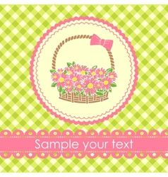 floral gift basket background vector image vector image