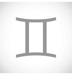 Gemini black icon vector