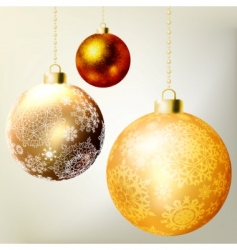 golden Christmas balls template vector image vector image