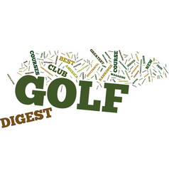 Golf digest text background word cloud concept vector