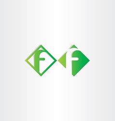Green letter f icons design vector