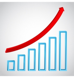 Growth graph concept with ricing arrow vector