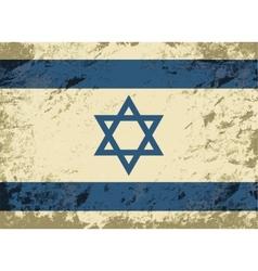 Israeli flag Grunge background vector image