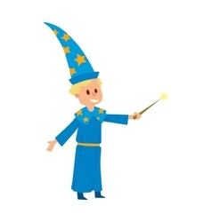 Magicians and wizards show boy character vector image