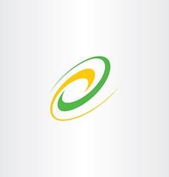 Natural bio icon wave logo design element vector