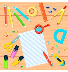 Office supplies background vector