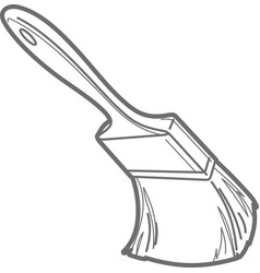 Paint brush outline vector image