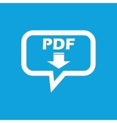 Pdf download message icon vector