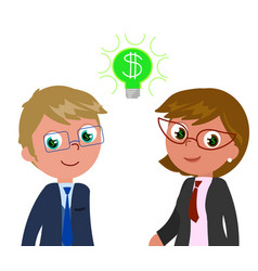rich managers with dollar in eyes vector image vector image