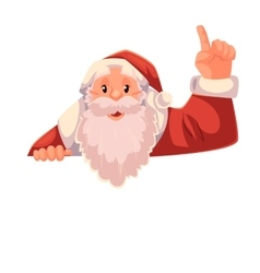Santa claus pointing up on a white background vector