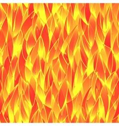 Seamless fiery pattern vector image