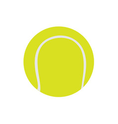 tennis ball isolated on white icon vector image vector image