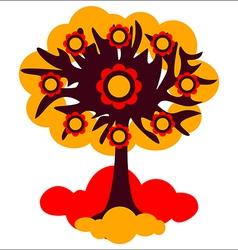 Tree autumn vector image