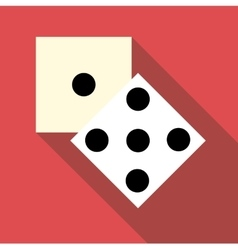 Two dice cubes icon flat style vector