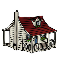 white planked house vector image vector image